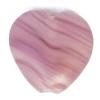 Glass Pressed Beads 10x10mm Heart Violet Stripe Matt